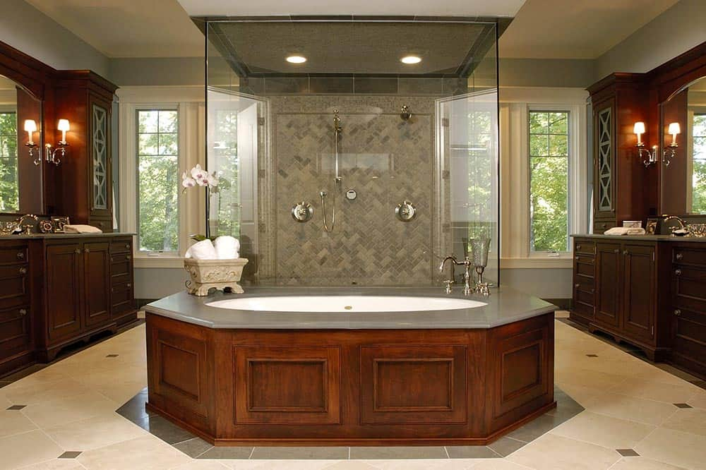 Nantucket Style Home - Spa Master Bathroom