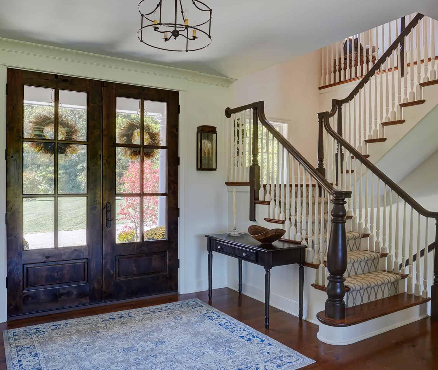 knotty-alder-double-front-entry-doors-staircase