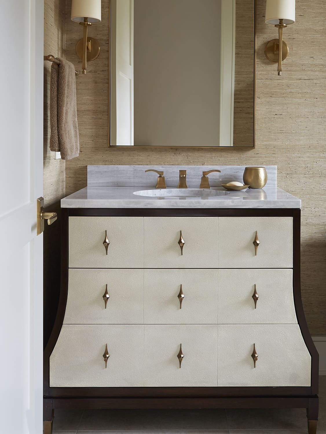 furniture like cream vanity