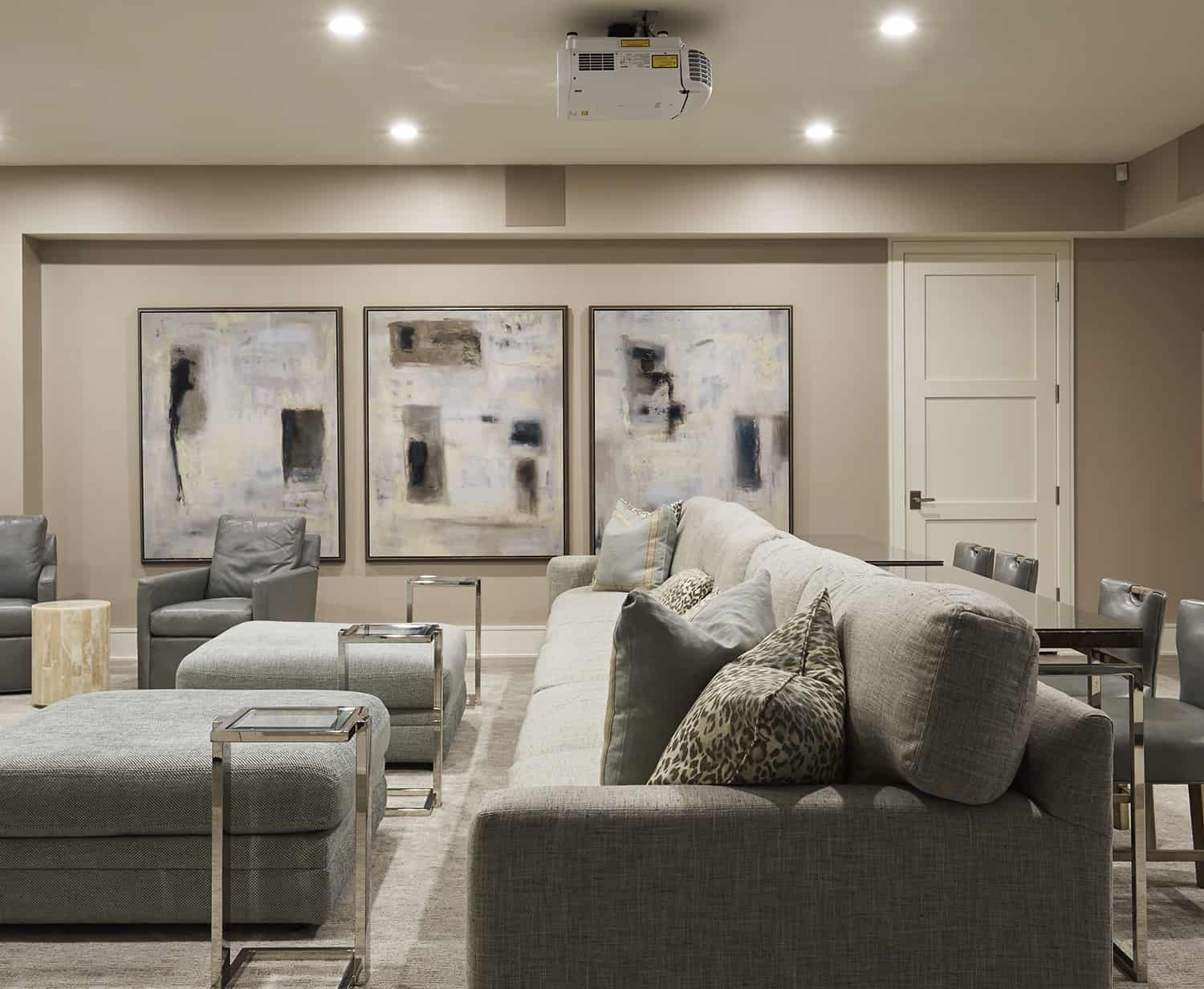 lower level home theater