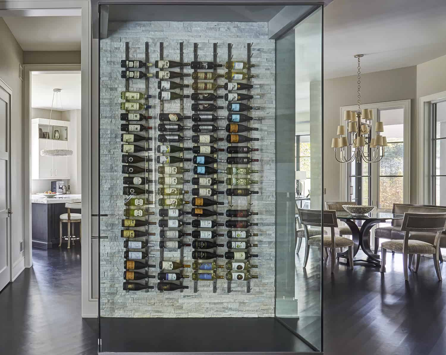 wine display wall